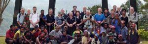 Track trekking group