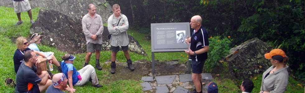 Historical briefings along the Kokoda Track