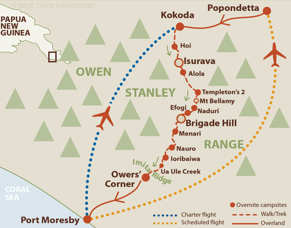 Kokoda Trek Route Map