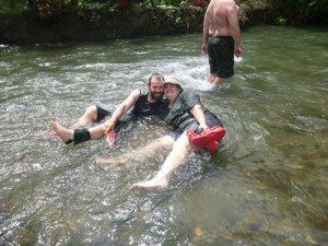 Cooling off while trekking the Kokoda Track