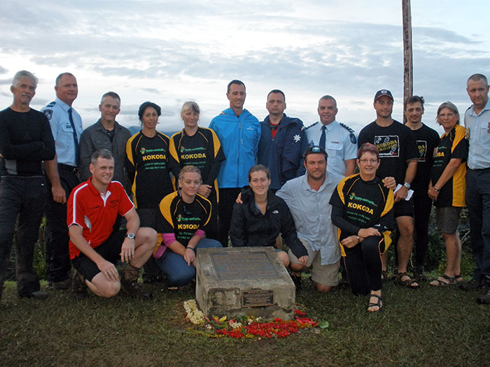 Team 2, 2013, at Brigade Hill along the Kokoda Track for Anzac Day celebrations