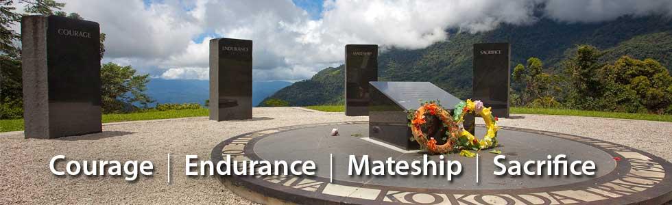 Isurava Memorial - Courage Endurance Mateship Sacrifice